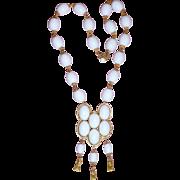 REDUCED Wonderful Vintage William DeLillo White Necklace