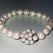 Vintage Faux Pearl Bracelet Gorgeous