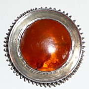 REDUCED Wonderful Vintage Amber Sterling Brooch