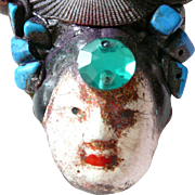 REDUCED Artist Brooch Asian Theme Face