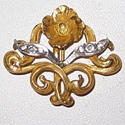 Art Nouveau Watch Pin