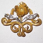 Art Nouveau Watch Pin