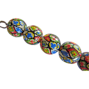 REDUCED Vintage Porcelain Painted Beads