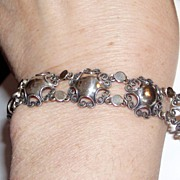 Vintage Beau Sterling Pretty Bracelet