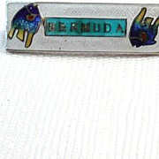 Vintage Enamel Bermuda Pin