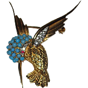 REDUCED Boucher Hummingbird Brooch