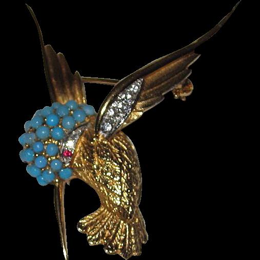 Boucher Hummingbird Brooch