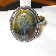 Vintage English Sterling Boy in Blue Ring