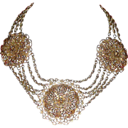 REDUCED 1930's Stupendous Filigree Necklace