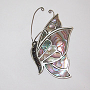 Large Butterfly Sterling Mexico Pin