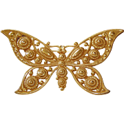 REDUCED Giant Butterfly Golden Brooch