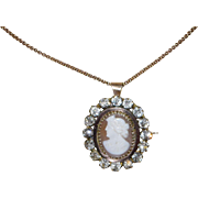 Victorian Cameo Shell Brooch or Pendant