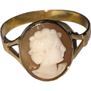 Vintage Cameo Ring 750 Gold