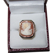 Vintage Cameo Ring Large