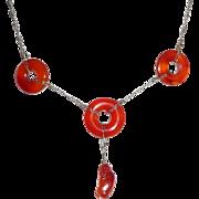 REDUCED Art Deco Carnelian Necklace