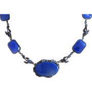 REDUCED Art Nouveau Chalcedony Sterling Necklace