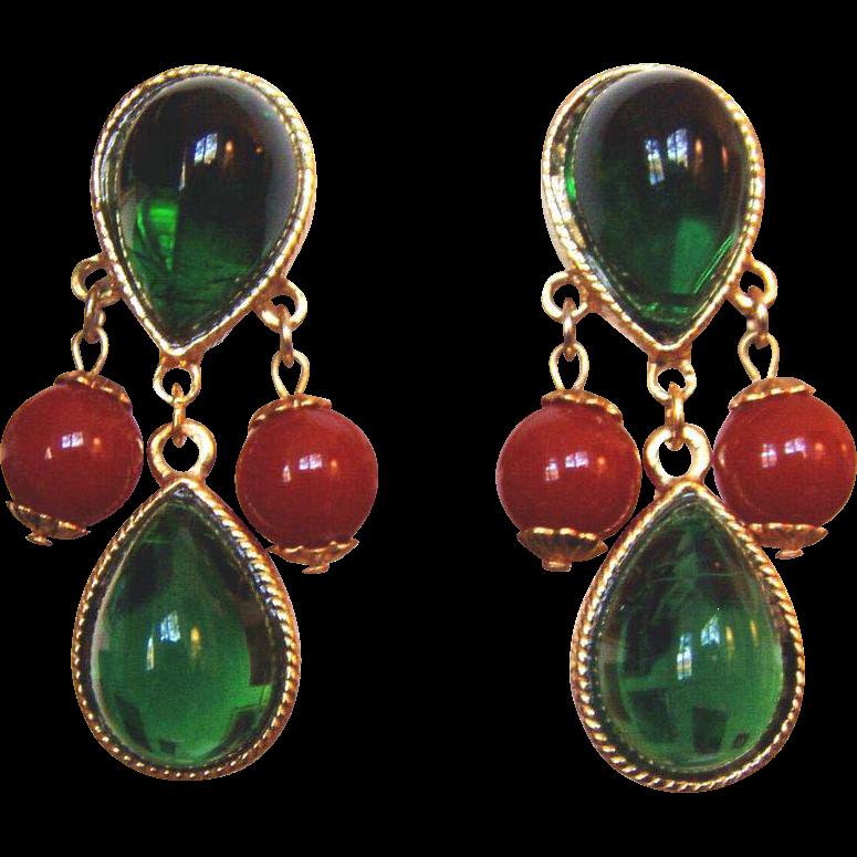 Elegant Classy Wonderful Green Earrings