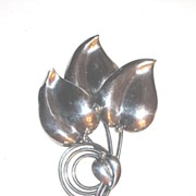 Large Coat Pin Stylized Leaf Design So In Style!