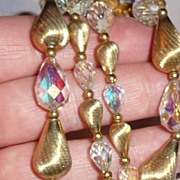 Vintage Crystal Beads Necklace