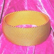 Vintage Wide Mesh Bracelet