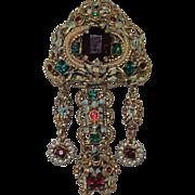 Vintage Czechoslovakia Ornate Brooch