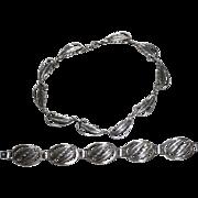 REDUCED Vintage Sterling Danecraft Leaves Set Necklace and Bracelet