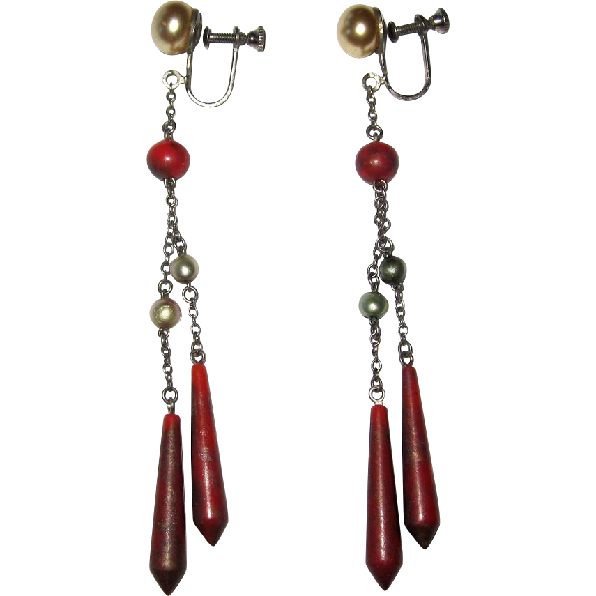 Art Deco Celluloid Earrings