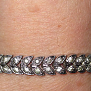 REDUCED Engel Brothers ART DECO Rhinestones Bracelet