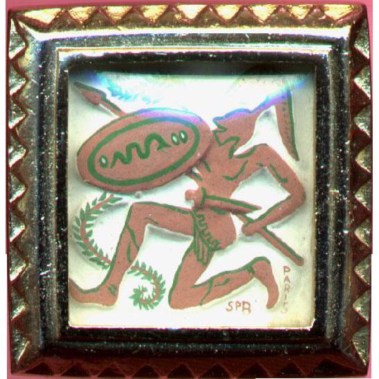 Paris from the Trojan War Art Miniature Pin