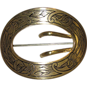 E. A. Bliss Art Nouveau Sash Pin
