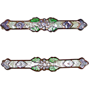 Vintage Enamel Pair Beauty Pins