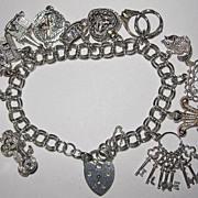 REDUCED Vintage Sterling English Charm Bracelet