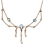 REDUCED Beautiful Victorian Festoon Necklace Must See