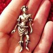 Vintage Figural Pin Woman