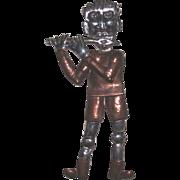 REDUCED Vintage Sterling Copper Flute Player