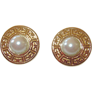 Givenchy Classic Clip Earrings Faux Pearls