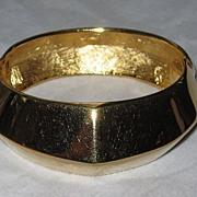 REDUCED Chunky Vintage Givenchy Wide Goldtone Bracelet