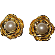 Vintage Large Givenchy Signed Clip Earrings