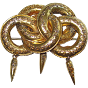 REDUCED Victorian Etruscan Revival Style Gold Brooch