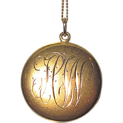 Victorian Gold Locket Engraved