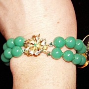 REDUCED Laguna Bracelet and Earrings Peking Glass