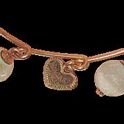 Victorian Souvenir Bracelet Niagra Falls Heart Honeymoon
