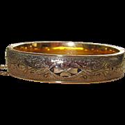 REDUCED Beautiful Vintage Gold Filled Taille d'Epargne Bracelet