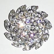 REDUCED Gorgeous Rhinestone Pinwheel Flower Brooch