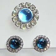 REDUCED Vintage Signed Jomaz Brooch and Earrings