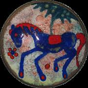 REDUCED Joop Schilt Dutch Enamel Blue Horse Pin Holland