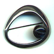 REDUCED Finland Kaunis Koru Sleek Modern Sterling Brooch