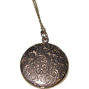 REDUCED Beautiful Victorian Engraved Locket Gold Filled