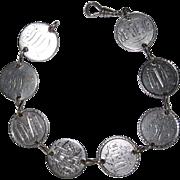 REDUCED Wonderful Victorian Love Token Bracelet 8 Tokens