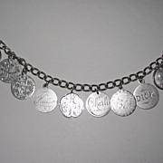 REDUCED Outstanding Victorian Love Token Bracelet Ten Tokens
